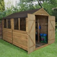 10x8 Forest Apex Overlap Wooden Shed With assembly service