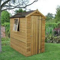 6x4 Forest Apex Tongue & groove Wooden Shed With assembly service