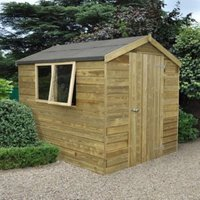 8X6 Forest Apex Tongue & Groove Wooden Shed with Assembly Service