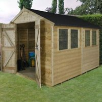 10x8 Forest Apex Tongue & groove Wooden Shed With assembly service