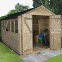 12X8 Forest Apex Tongue & Groove Wooden Shed with Assembly Service