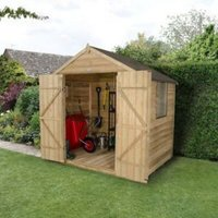 7x5 Forest Apex Overlap Wooden Shed With assembly service Base included