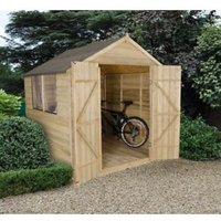 7x7 Forest Apex Overlap Wooden Shed With assembly service Base included
