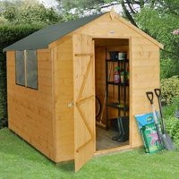 8x6 Forest Apex Shiplap Wooden Shed With assembly service Base included