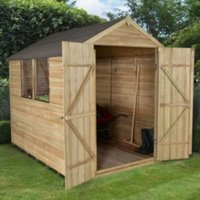 8X6 Apex Overlap Wooden Shed