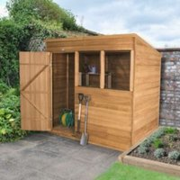 7x5 Forest Pent Overlap Wooden Shed