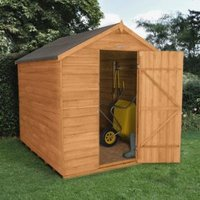 8x6 Forest Apex Overlap Wooden Shed With assembly service Base included