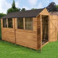 10X6 Forest Apex Overlap Wooden Shed with Assembly Service