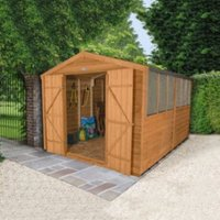 12x8 Forest Apex Overlap Wooden Shed With assembly service