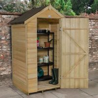 4X3 Apex Overlap Wooden Shed with Assembly Service