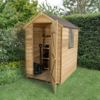 6X4 Apex Overlap Wooden Shed with Assembly Service Base Included