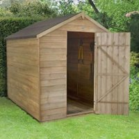 8X6 Apex Overlap Wooden Shed Base Included