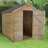 8x6 Forest Apex Overlap Wooden Shed With assembly service
