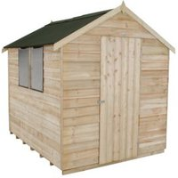 8x6 Forest Apex roof Overlap Wooden Shed With assembly service