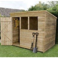 8X6 Pent Overlap Wooden Shed