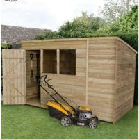 10X6 Pent Overlap Wooden Shed