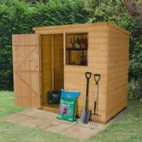 6X4 Pent Shiplap Wooden Shed Base Included