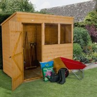 7X5 Pent Shiplap Wooden Shed Base Included