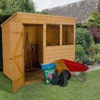 7X5 Pent Shiplap Wooden Shed with Assembly Service Base Included