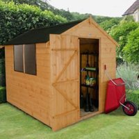8X6 Apex Shiplap Wooden Shed Base Included
