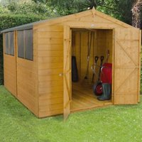 10X8 Forest Apex Shiplap Wooden Shed with Assembly Service