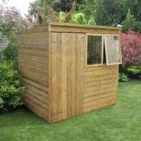 7X5 Forest Pent Tongue & Groove Wooden Shed with Assembly Service