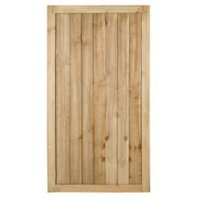 Pine Featheredge Gate (H)1.8m (W)0.92 m