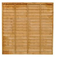 Premier Traditional Overlap Horizontal slat Fence Panel (W)1.83 m (H)1.52m  Pack of 3