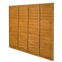Premier Wood Lap Fence Panel (W)1.83 m (H)1.83m  Pack of 4