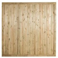 Forest Garden Decibel Contemporary Profiled tongue & groove Vertical slat Noise Reduction Fence Panel (W)1.83 m (H)1.8m