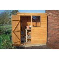 6x4 Pent Overlap Wooden Shed With assembly Base included