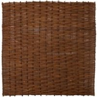 Willow Brown Garden screen (H)1.8m (W)1.8m   Pack of 5