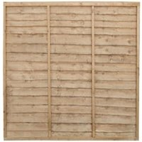 Traditional Pressure treated Lap Fence Panel (W)1.83 m (H)1.83m  Pack of 4