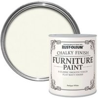 Rust-Oleum Antique white Chalky effect Matt Furniture paint 125ml