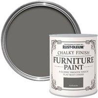 Rust-Oleum Anthracite Chalky effect Matt Furniture paint 750ml