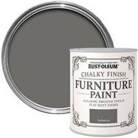 Rust-Oleum Anthracite Chalky effect Matt Furniture paint 125ml