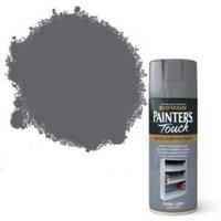 Rust-Oleum Painter's touch Dark Grey Gloss Decorative spray paint 400 ml