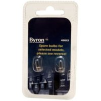 Byron Incandescent Capsule Light bulb  Pack of 2