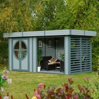 8X17 Connor Shiplap Timber Summerhouse Base Included