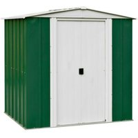 6X5 Greenvale Apex Metal Shed with Assembly Service