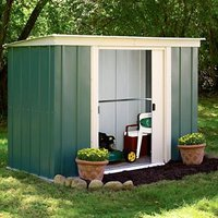8x4 Greenvale Pent Metal Shed With assembly service