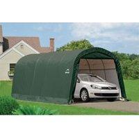 20X10 Shelterlogic Round Top Tubular Steel Frame Polyethylene Auto Shelter