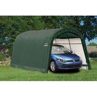 15X10 Shelterlogic Round Top Tubular Steel Frame Polyethylene Auto Shelter