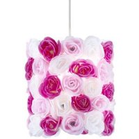 Lights By B&Q Posy Pink & White Floral Light Shade (D)23cm