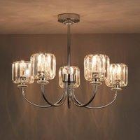 Welford Chrome Effect 5 Lamp Semi Flush Light