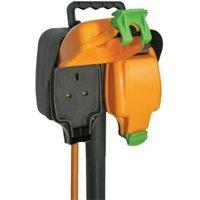 Masterplug 2 socket 13A Black Extension lead 15m