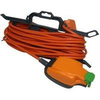 Masterplug 1 socket 13A Orange Extension lead 15m