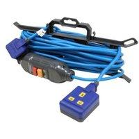 Masterplug 1 socket 13A Blue Extension lead  15m