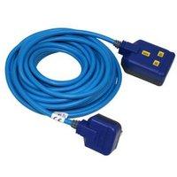 Masterplug 1 socket 13A Blue Extension lead 10m