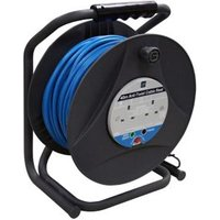 Masterplug 2 socket Cable reel 40m